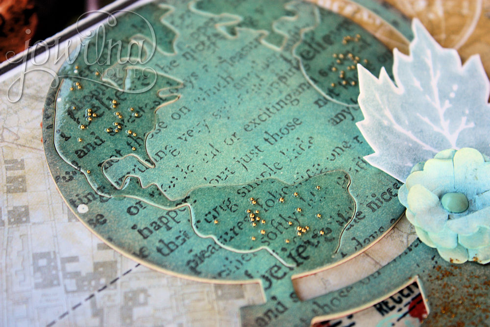 stamped globe