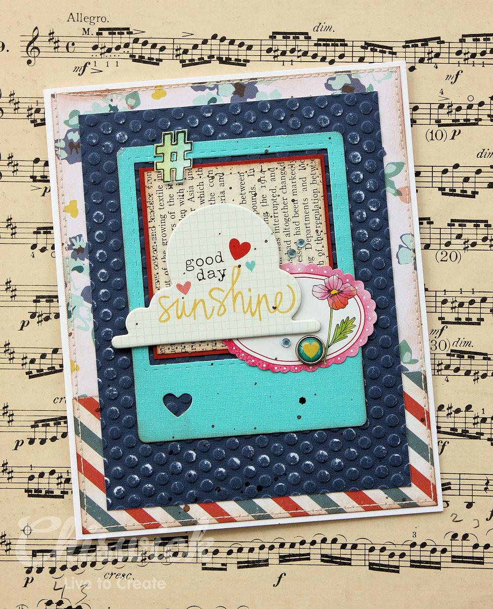 embossed card