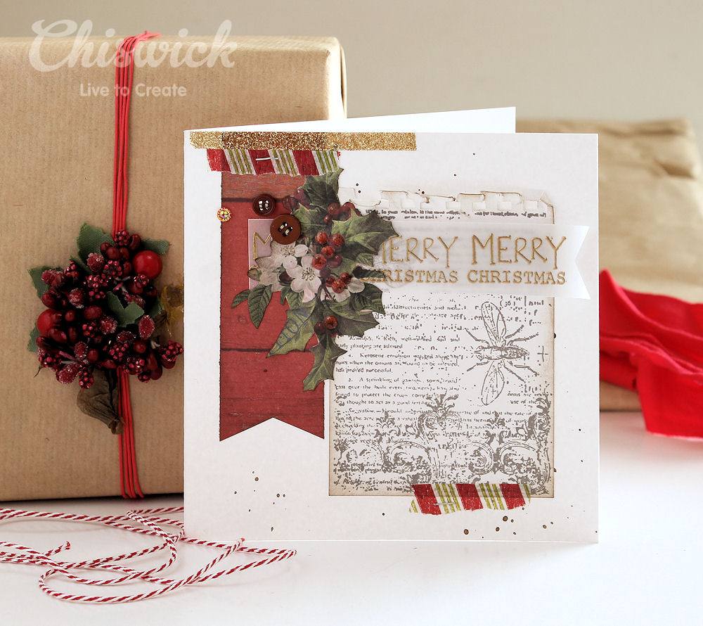 embossed vellum card