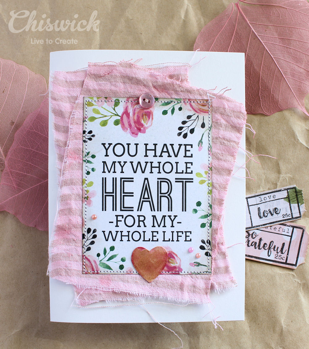 fabric dyed card