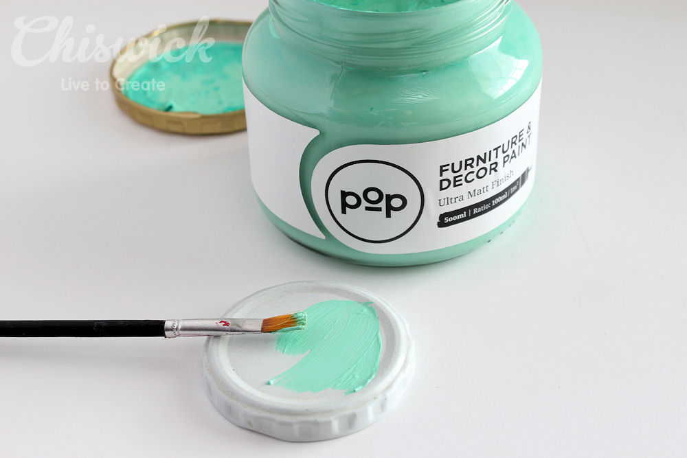 painted jar lid step 1