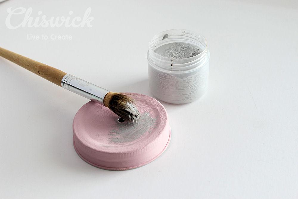 painted jar lid step 3