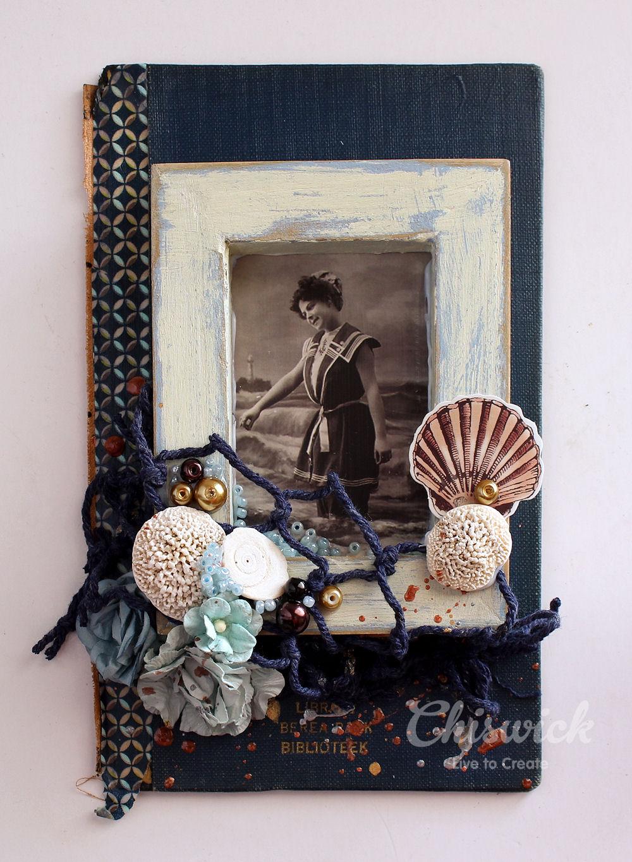 painted seaside frame