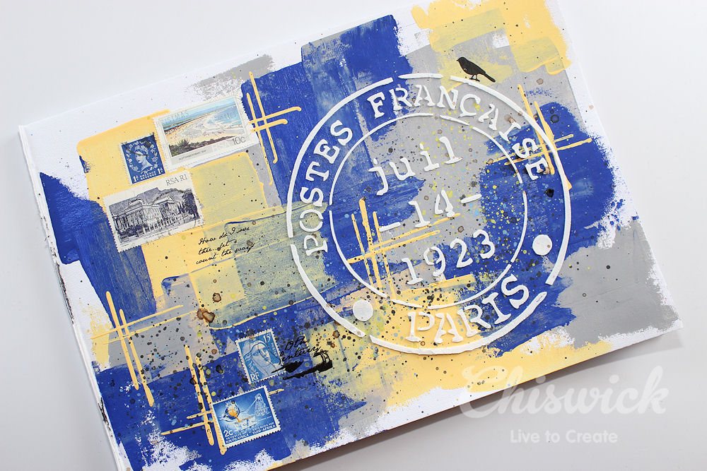 art-journal-page-postage-marks