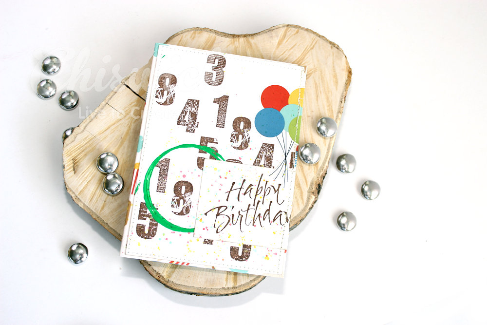 Quick stamped birthday card chiswick live to create step 1 you will need your number stamp set nifty digits ink in brown or black and an acrylic block bookmarktalkfo Choice Image