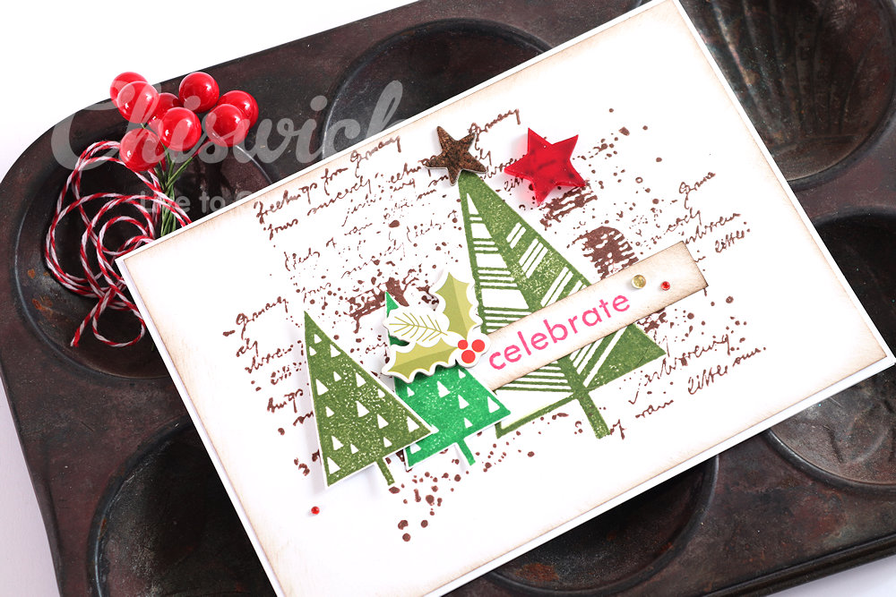 Stamped Christmas Cards with Chiswick Stamps